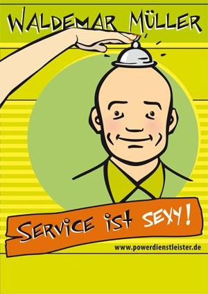 "Plakat ""Service ist sexy !"""