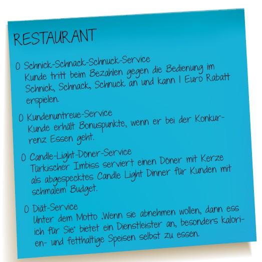 Service Quiz Restaurant